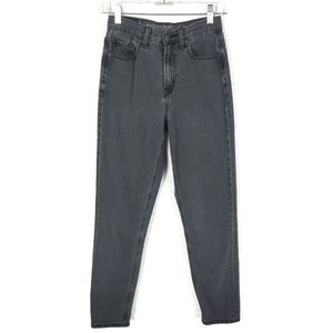 American Eagle Mom Jeans 00 Gray